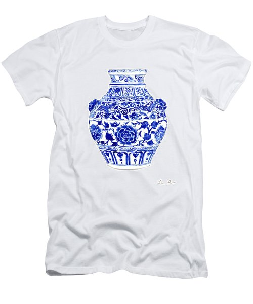 Blue And White Ginger Jar Chinoiserie 4 Men's T-Shirt (Athletic Fit)