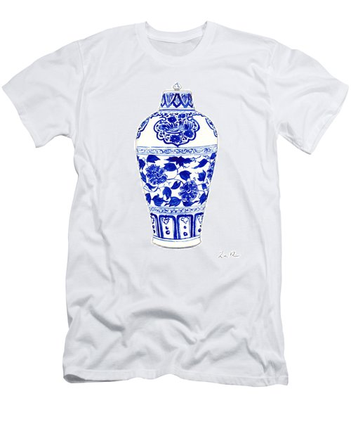Blue And White Ginger Jar Chinoiserie Jar 1 Men's T-Shirt (Athletic Fit)