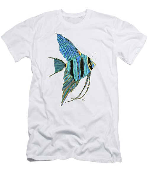 Blue Anglefish Men's T-Shirt (Athletic Fit)