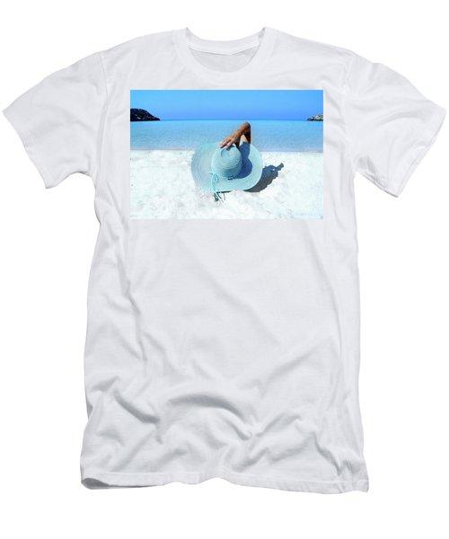 Blue Beach Men's T-Shirt (Athletic Fit)