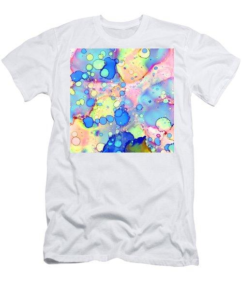 Blue Bubble Gum Pop Men's T-Shirt (Athletic Fit)
