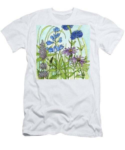 Blue Buttons Men's T-Shirt (Athletic Fit)