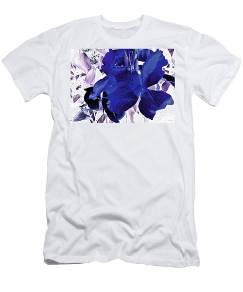 Men's T-Shirt (Slim Fit) featuring the photograph Blue Canna Lily by Shawna Rowe