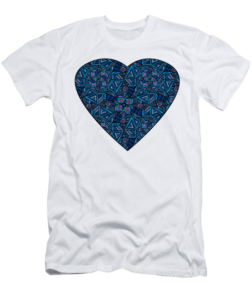 Blue Doodles - Hearts And Smiles   Men's T-Shirt (Athletic Fit)