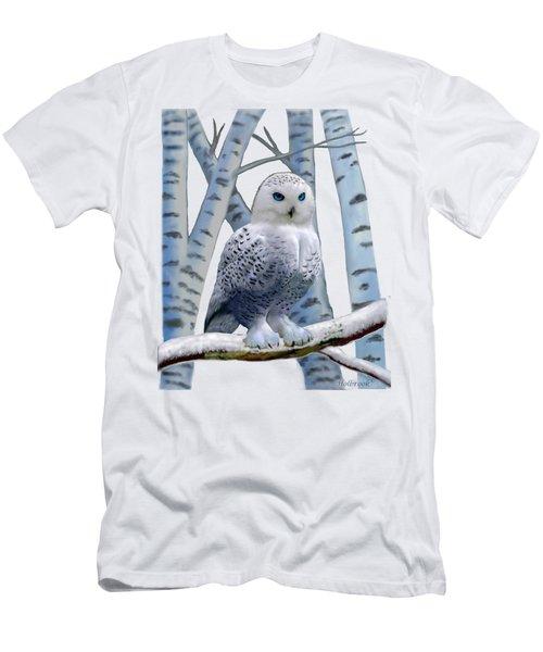 Blue-eyed Snow Owl Men's T-Shirt (Athletic Fit)