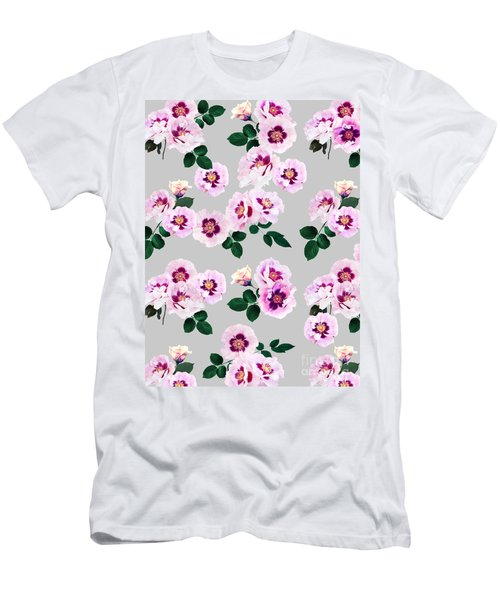 Blue Eyes Roses Men's T-Shirt (Athletic Fit)