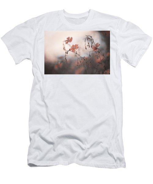 Blue Flax Flower. Aliens Men's T-Shirt (Athletic Fit)