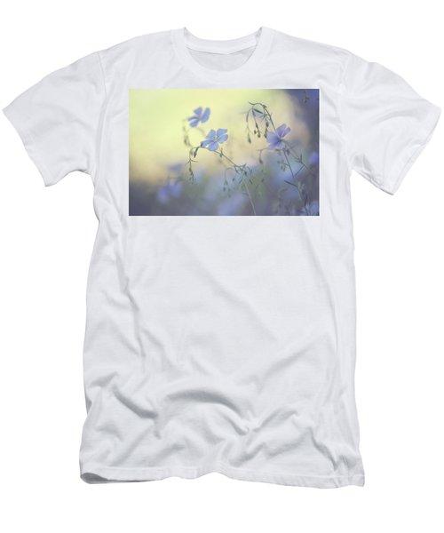 Blue Flex Flower. Nostalgic Men's T-Shirt (Athletic Fit)