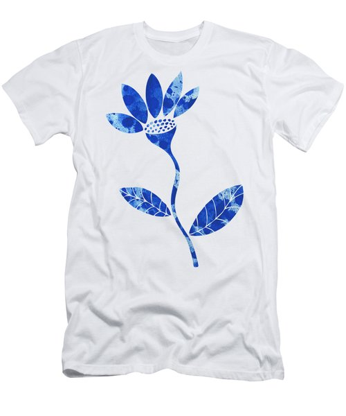 Blue Flower Men's T-Shirt (Slim Fit) by Frank Tschakert