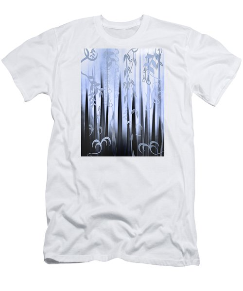 Men's T-Shirt (Slim Fit) featuring the painting Blue Forest by Deborah Smith