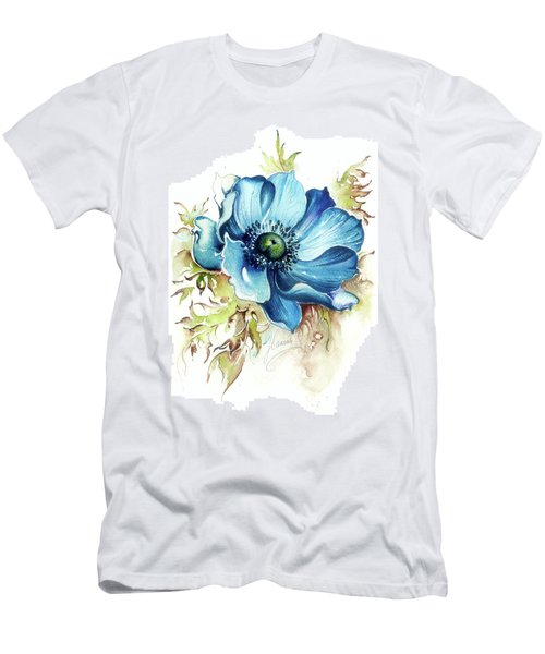 Blue Gem Men's T-Shirt (Slim Fit) by Anna Ewa Miarczynska