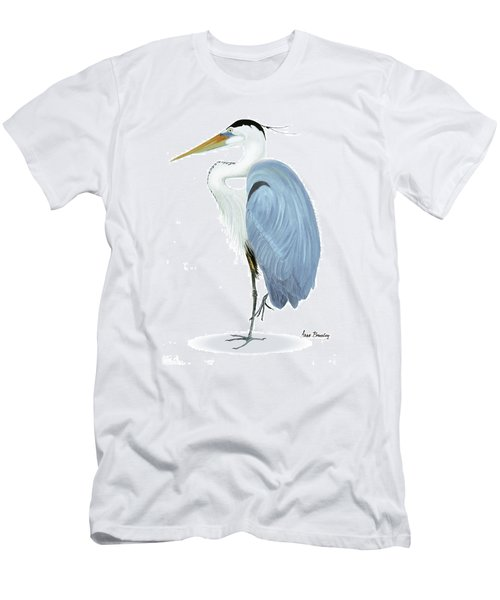 Blue Heron With No Background Men's T-Shirt (Slim Fit)
