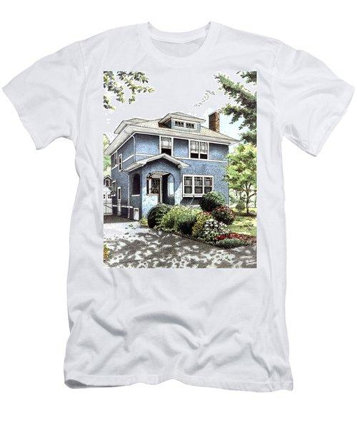 Blue House Men's T-Shirt (Athletic Fit)