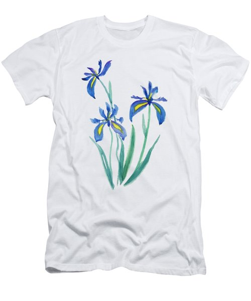 Blue Iris Men's T-Shirt (Slim Fit) by Color Color