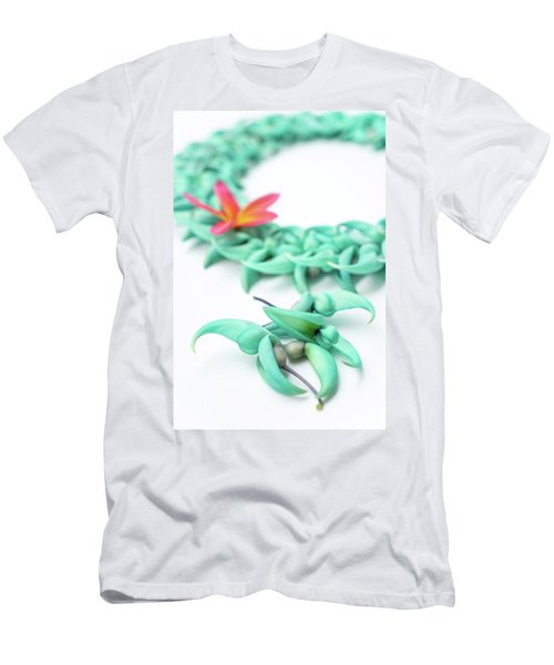 Blue Jade Lei Men's T-Shirt (Athletic Fit)
