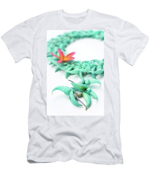 Blue Jade Lei Men's T-Shirt (Athletic Fit)