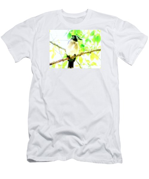 Men's T-Shirt (Slim Fit) featuring the photograph Blue Jay IIi by Clarice  Lakota