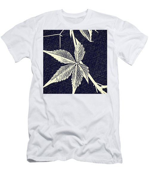 Blue Leaf Men's T-Shirt (Athletic Fit)