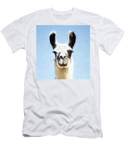 Men's T-Shirt (Athletic Fit) featuring the photograph Blue Llama by Sue Collura