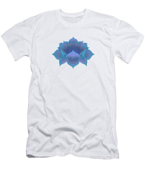 Men's T-Shirt (Athletic Fit) featuring the digital art Blue Lotus by Elizabeth Lock