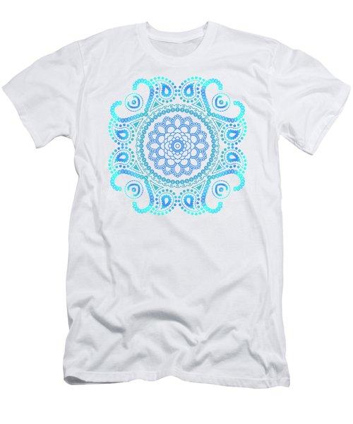 Blue Lotus Mandala Men's T-Shirt (Athletic Fit)