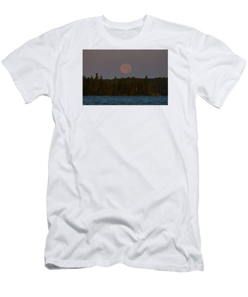 Men's T-Shirt (Slim Fit) featuring the photograph Blue Moon Over Berry Lake by Steven Clipperton