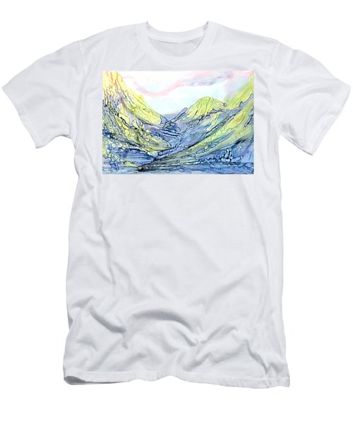 Blue Mountains Alcohol Inks  Men's T-Shirt (Athletic Fit)