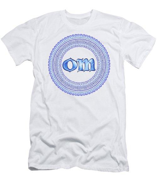 Blue Om Mandala Men's T-Shirt (Athletic Fit)