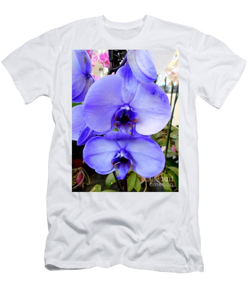 Blue Phalaenopsis Orchid Men's T-Shirt (Athletic Fit)