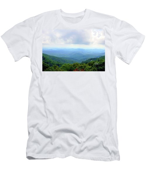 Blue Ridge Parkway Overlook Men's T-Shirt (Slim Fit) by Meta Gatschenberger