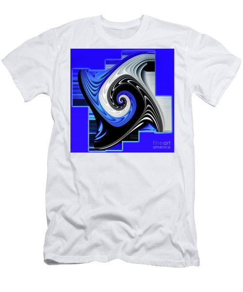 Men's T-Shirt (Slim Fit) featuring the digital art Blue River by Shadowlea Is