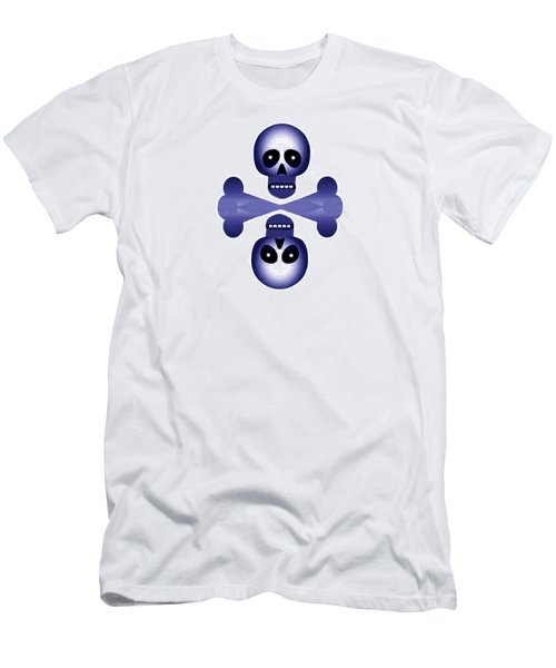 Blue Skulls Men's T-Shirt (Athletic Fit)