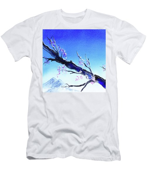 Blue Sky Mountains Spring  Men's T-Shirt (Athletic Fit)
