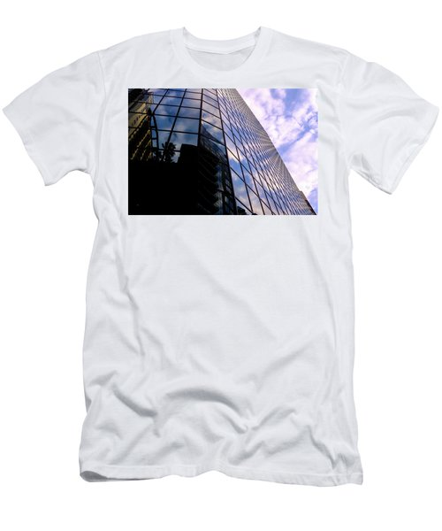 Blue Skyscrapper With A Blue Sky In New Orleans Louisiana Men's T-Shirt (Athletic Fit)