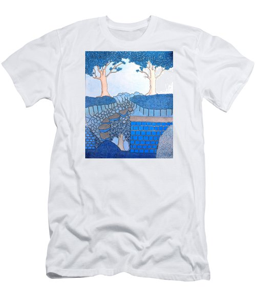 Blue Trees Men's T-Shirt (Athletic Fit)