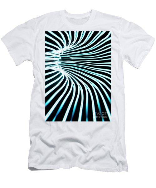 Blue Warp Men's T-Shirt (Athletic Fit)