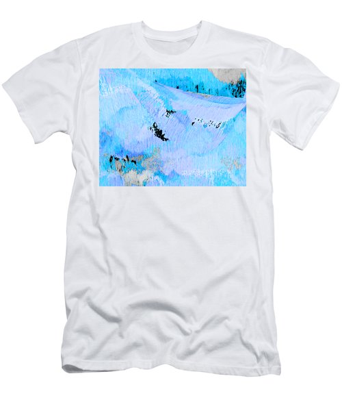 Blue Water Wet Sand Men's T-Shirt (Slim Fit) by Stephanie Grant
