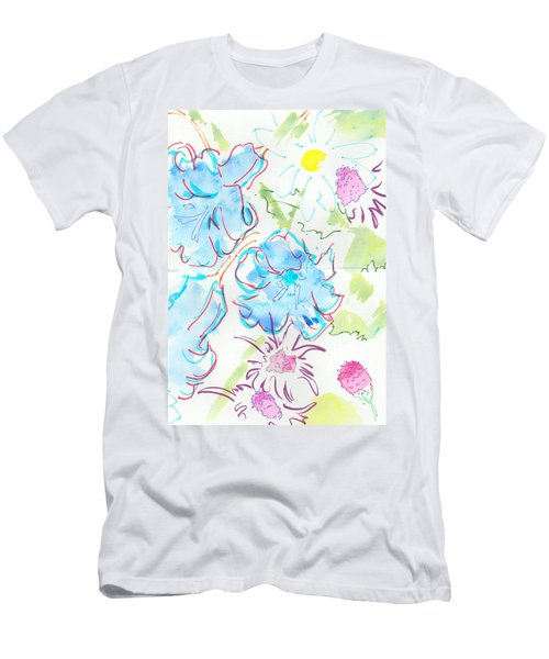 Bluebells English Wild Flowers Men's T-Shirt (Athletic Fit)