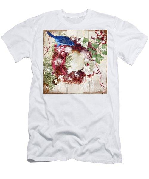 Bluebird Christmas I Men's T-Shirt (Athletic Fit)