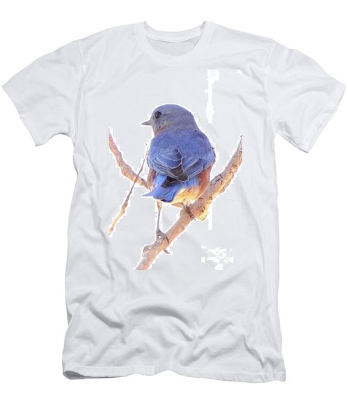 Bluebird On White Men's T-Shirt (Slim Fit) by Robert Frederick
