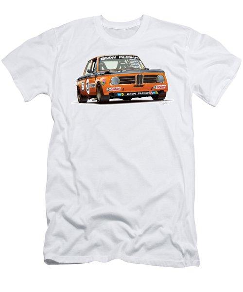 Bmw 2002 Alpina Illustration Men's T-Shirt (Slim Fit) by Alain Jamar