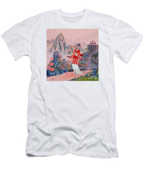 Men's T-Shirt (Slim Fit) featuring the painting Bo Chaa by Anthony Lyon