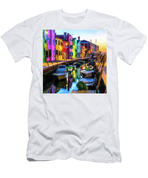 Boat Canal Men's T-Shirt (Slim Fit)