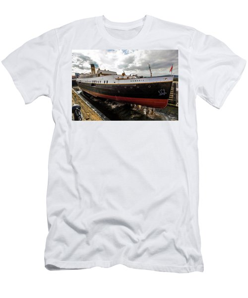 Boat In Drydock Men's T-Shirt (Athletic Fit)