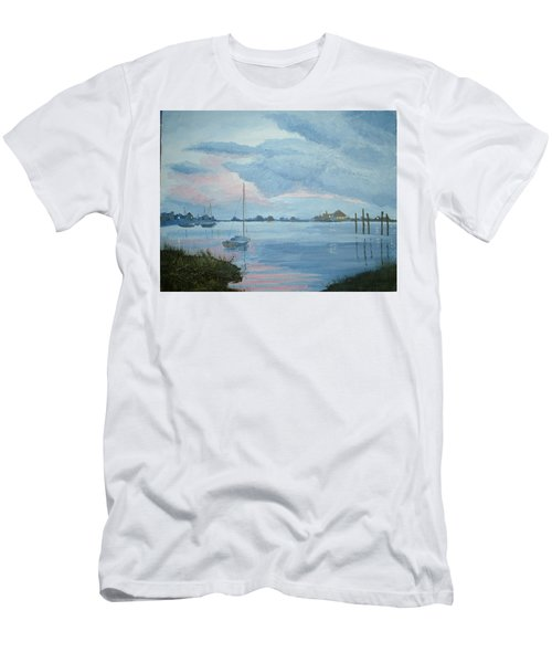 Boat Sunset Men's T-Shirt (Athletic Fit)
