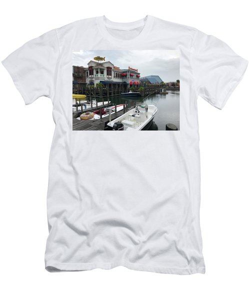 Boat Yard Men's T-Shirt (Slim Fit) by Michael Albright