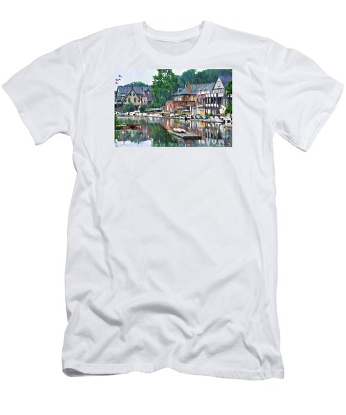 Boathouse Row In Philadelphia Men's T-Shirt (Athletic Fit)