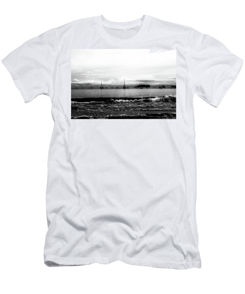 Boats And Clouds Men's T-Shirt (Athletic Fit)