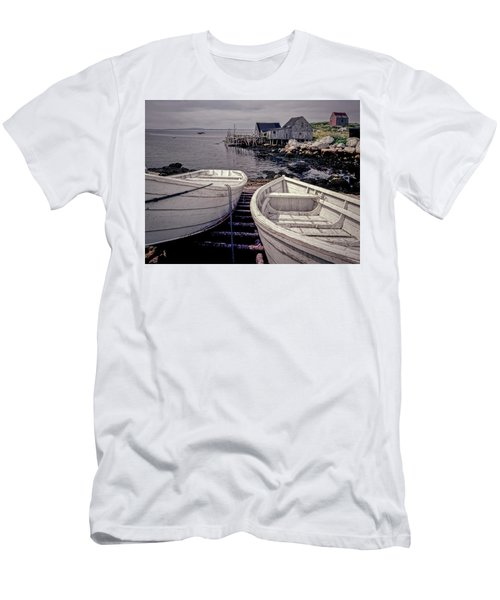 Boats Near Peggys Cove Men's T-Shirt (Athletic Fit)