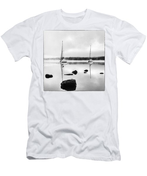 Boats On Ullswater In The Lake District Men's T-Shirt (Athletic Fit)